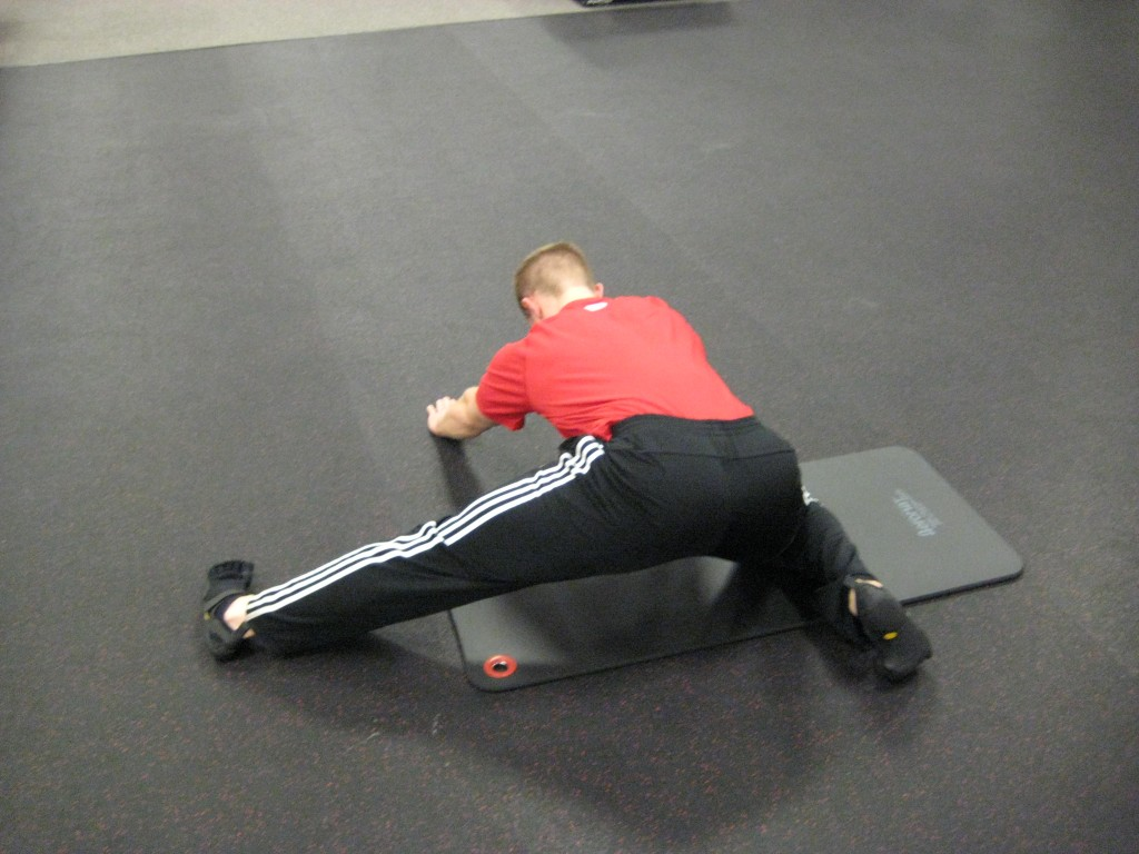 Hockey Training-Lateral Kneeling Quadruped Rock (Backward)