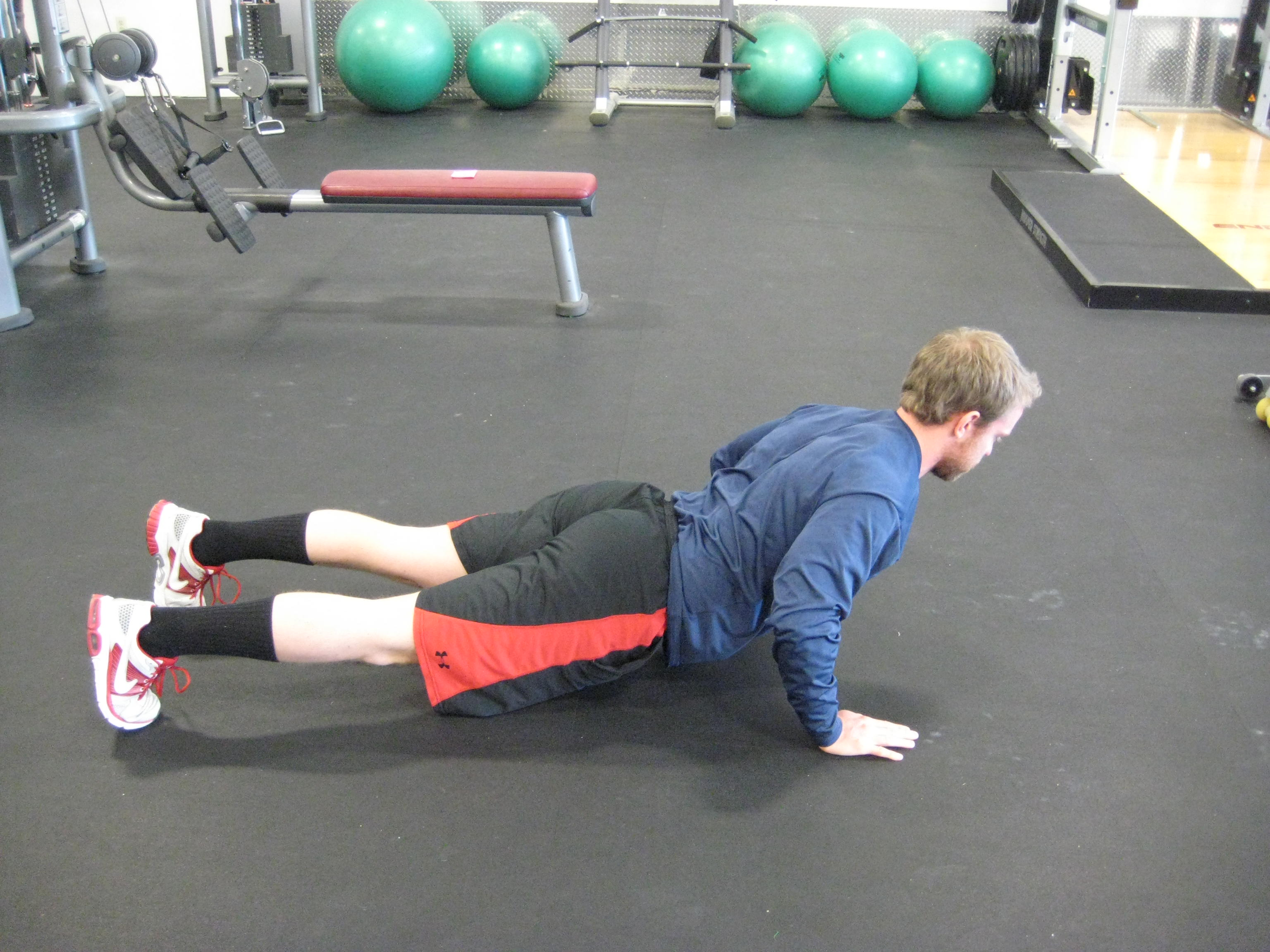 Push Hands up Push-up w/ Excessive Extension