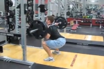 Matt Siniscalchi Squatting in Jorts