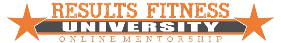 Results Fitness University-Online Membership