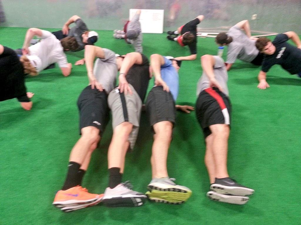 USPHL Flyers Team Side Plank