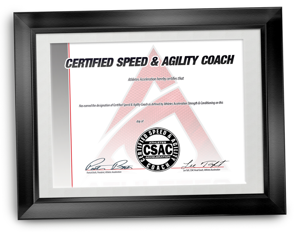 Certified Speed and Agility Coach Certificate