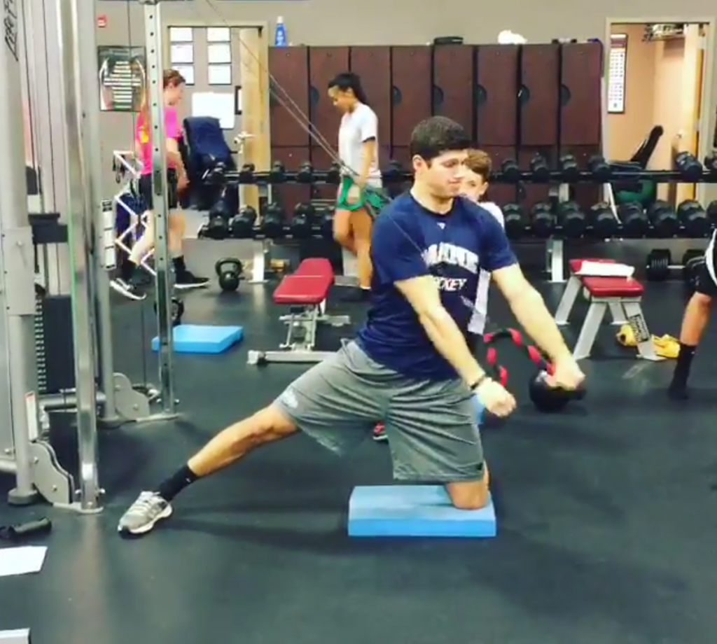 Core Training-Lateral 1:2 Kneeling Cable Chop