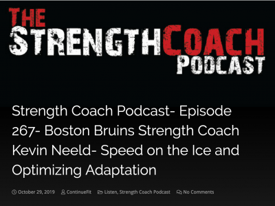 Podcast: Speed training, transitioning to the NHL, and more!